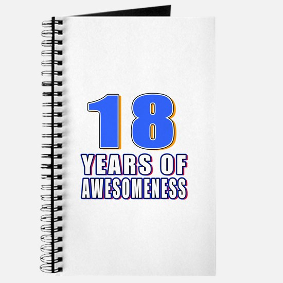 18 Years Of Awesomeness Journal