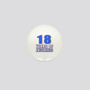 18 Years Of Awesomeness Mini Button