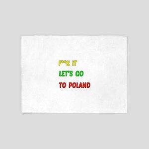 Let's go to Poland 5'x7'Area Rug