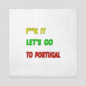 Let's go to Portugal Queen Duvet