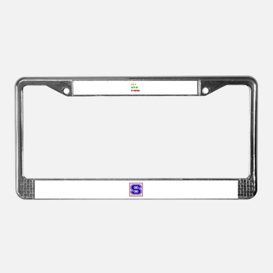 Let's go to Portugal License Plate Frame