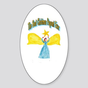 Best Christmas Pageant Oval Sticker