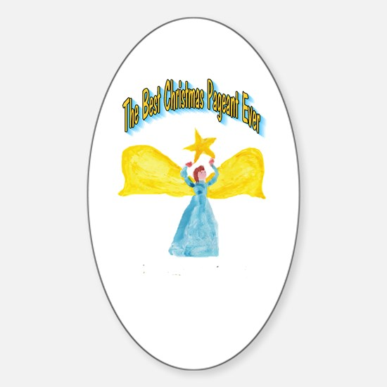 Best Christmas Pageant Oval Decal
