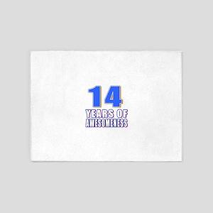 14 Years Of Awesomeness 5'x7'Area Rug