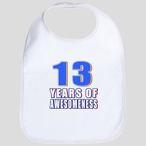 13 Years Of Awesomeness Bib