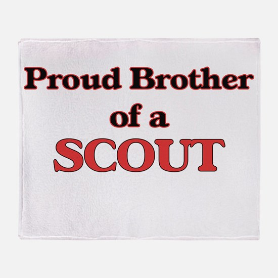 Proud Brother of a Scout Throw Blanket
