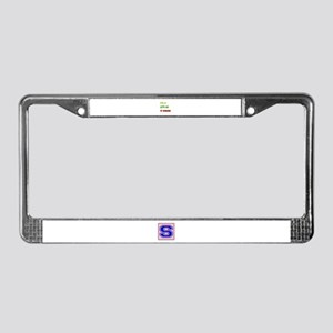 Let's go to Romania License Plate Frame