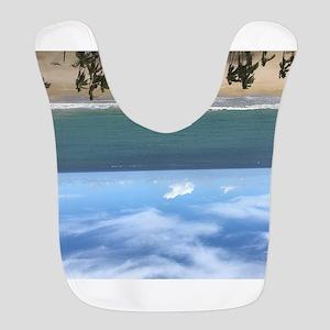 Beach resort upside down Polyester Baby Bib