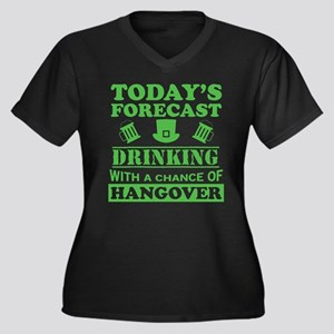 Today's Forecast: Drinking Plus Size T-Shirt
