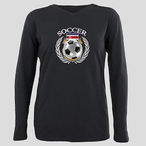 Costa Rica Soccer Fan Plus Size Long Sleeve Tee