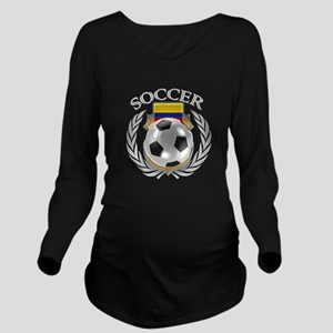 Colombia Soccer Fan Long Sleeve Maternity T-Shirt