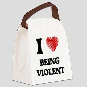 being violent Canvas Lunch Bag