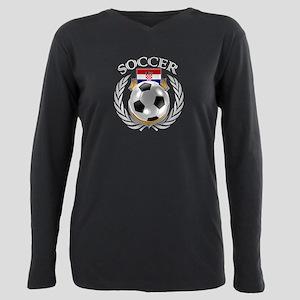 Croatia Soccer Fan Plus Size Long Sleeve Tee