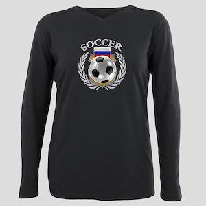 Russia Soccer Fan Plus Size Long Sleeve Tee