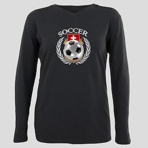 Switzerland Soccer Fan Plus Size Long Sleeve Tee