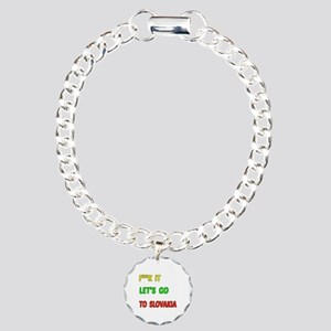 Let's go to Slovakia Charm Bracelet, One Charm