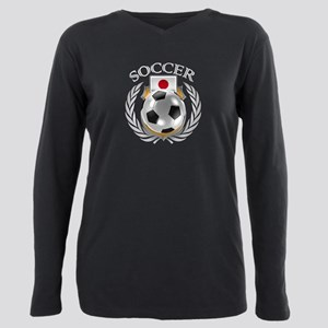 Japan Soccer Fan Plus Size Long Sleeve Tee