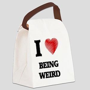 being weird Canvas Lunch Bag
