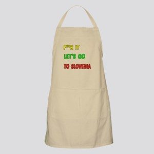 Let's go to Slovenia Apron
