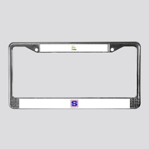 Let's go to Slovenia License Plate Frame