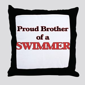 Proud Brother of a Swimmer Throw Pillow