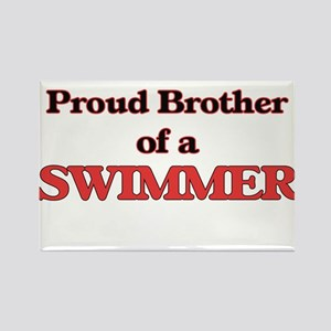 Proud Brother of a Swimmer Magnets