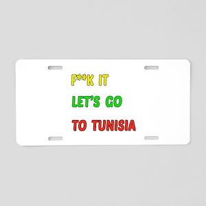 Let's go to Tunisia Aluminum License Plate