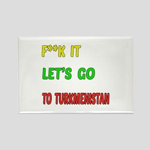 Let's go to Turkmenistan Rectangle Magnet