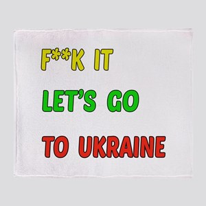 Let's go to Ukraine Throw Blanket