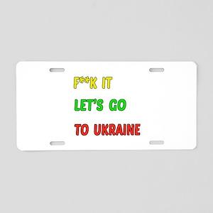 Let's go to Ukraine Aluminum License Plate