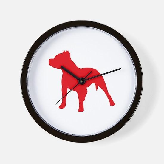 Pitbull Red 1C Wall Clock