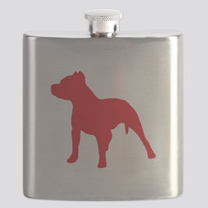 Pitbull Red 1C Flask