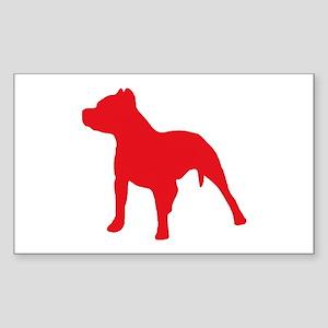 Pitbull Red 2 Sticker