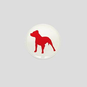 Pitbull Red 2 Mini Button