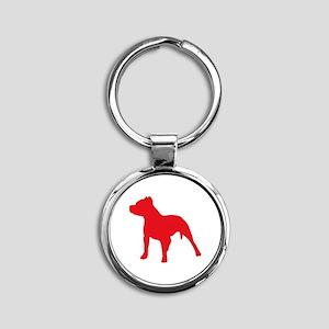 Pitbull Red 2 Keychains