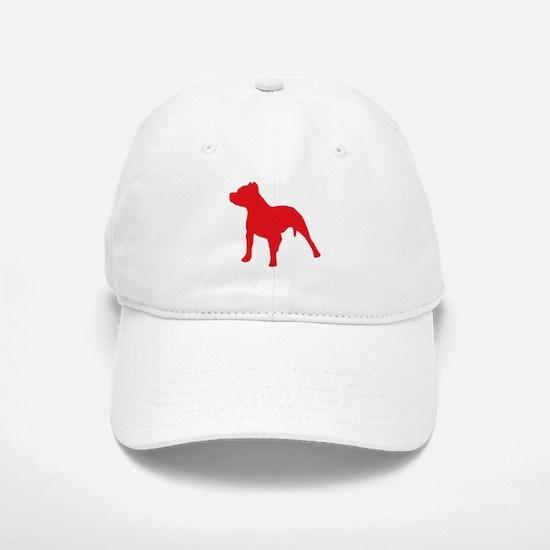 Pitbull Red 2 Baseball Baseball Baseball Cap