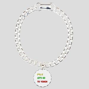 Let's go to Yemen Charm Bracelet, One Charm