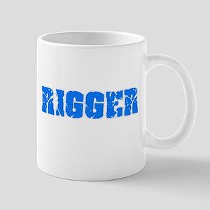 Rigger Blue Bold Design Mugs