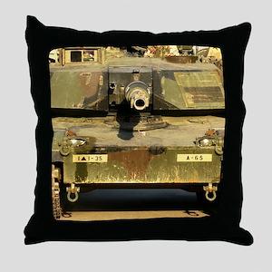 M1A1 Abrams Tank Throw Pillow
