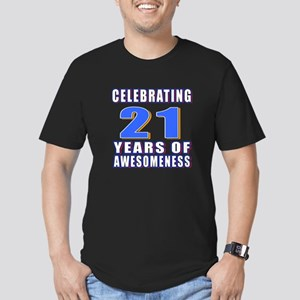 21 Years Of Awesomenes Men's Fitted T-Shirt (dark)