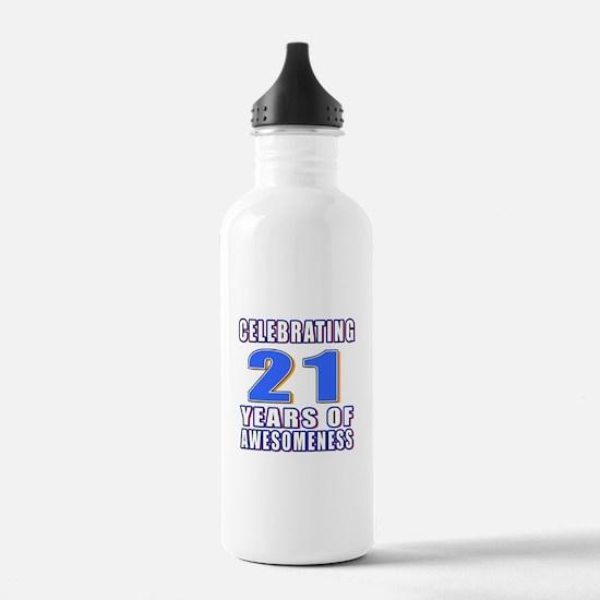21 Years Of Awesomenes Water Bottle