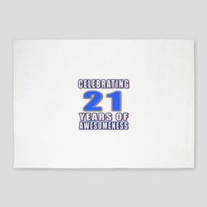 21 Years Of Awesomeness 5'x7'Area Rug