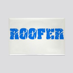 Roofer Blue Bold Design Magnets