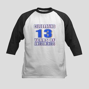 13 Years Of Awesomeness Kids Baseball Jersey