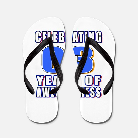 03 Years Of Awesomeness Flip Flops