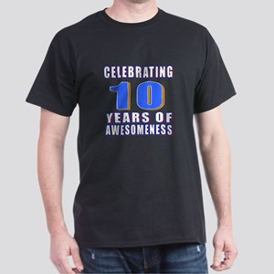 10 Years Of Awesomeness Dark T-Shirt