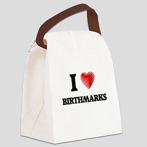 I Love BIRTHMARKS Canvas Lunch Bag