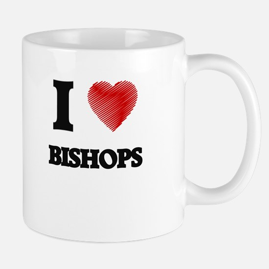 I Love BISHOPS Mugs