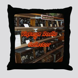 Vintage Radio Collector Throw Pillow