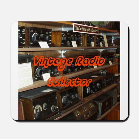 Vintage Radio Collector Mousepad